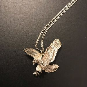 Sterling Silver Eagle on Sterling Silver Chain